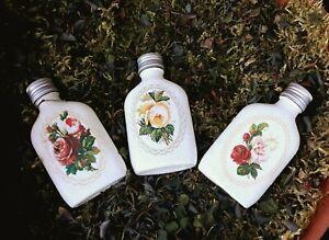 Shabby chic perfume bottles / flasks, handmade, floral gifts, 50 ml