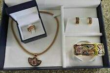 RARE Authentic Frey Wille PAISLEY jewellery set bracelet necklace earrings ring