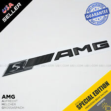 New Style AMG S Emblem 3D ABS Matte Black Trunk Logo Badge Decoration Gift