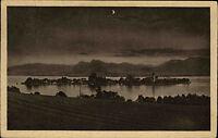 Fraueninsel im Chiemsee Frauenchiemsee Stempel Chieming 1924 Blick Mondschein