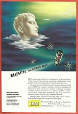 1949 Ad ~IBM INTERNATIONAL BUSINESS MACHINES Electron Tube, Releasing the Mind