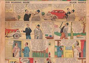 1938 Tonopah NV Sunday Comic Section February 20 - Herky;Major Hoople; Nut Bros.