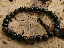 Natural Gemstone Uomo Braccialetto Elastico tutti 8 mm Tiger eye Beads