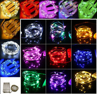 Waterproof 20-100 LEDs String Copper Wire Fairy Lights Battery Powered Decor Use