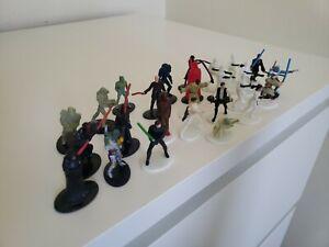 Star Wars EPIC DUELS Game Pieces Lot of 26 Miniature Figures Milton Bradley 2002