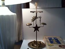 VINTAGE BRASS CHRISTMAS SWEDISH ANGEL & PARTY CHIMES CANDLE HOLDER ORIGINAL BOX