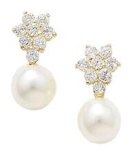 Pendientes de joyería con perlas amarillo