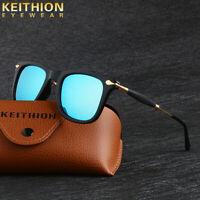 KEITHION Classic Style Sunglasses Unisex Polarized Square Driving Mirror Eyewear