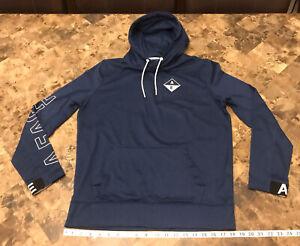American Eagle Blue White Hoodie Sweatshirt Men's Size Small
