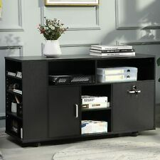 Office File Cabinet With Lock Amp Door Wood Storage Black Home Storage Organizer