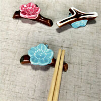 1PC Chopsticks Holder Ceramic Chopstick Rest Fork Spoon Stand - Plum Blossom