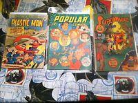 Plastic Man #16 Popular Comics #116 Supersnipe Comics Vol 3 #4 Comics L@@K