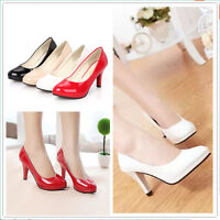 Classic Wedding shoes NEW Women's Pointed Toe Pump Comfort Patent Low Heel Shoes