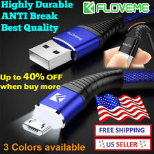 LED Micro USB Android Fast Charging Data Cable 3ft Charger Samsung HTC LG FLOVEM