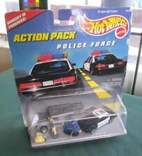 HOT WHEELS ACTION PACK POLICE FORCE ACTION FIGURES CARS TOYS NRFB NEW