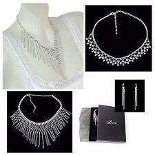 Modeschmuck-Halsketten & -Anhänger aus Stein mit Strass-Perlen für Damen