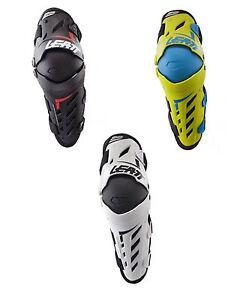 Leatt Dual Axis Knee & Shin Guard Protection PAIR Motocross MX ATV Off Road