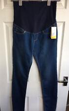 Ladies Jeans Size 10 Maternity Dark Blue Stretch denim Skinny Soft H&M NEW