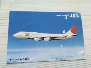 JAL Japan Airlines Postcard - Boeing 747-400 RARE