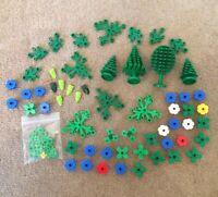 BIG Lego Vintage 86 Piece Bundle Of Foliage VARIOUS COLORS - Trees Flowers Etc