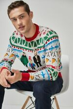 Official Home Alone Film Knitted Christmas Jumper Ugly Fairisle Sweater NEXT NEW
