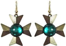 """1 3/8"""" Iron Cross Earrings (3"""" Total), Vintage Jonette Jewelry, U.S.A.  30898"""