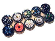 100 bunte Mini Kompass Compas Brujula  Bussola Boussole 2cm in 10 Sorten