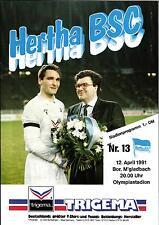 BL 90/91 Hertha BSC - Borussia Mönchengladbach, 12.04.1991