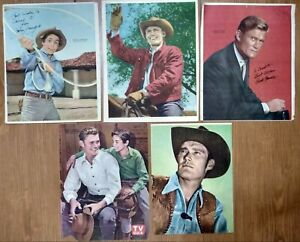 VINTAGE RIFLEMAN CHUCK CONNORS JOHNNY CRAWFORD TV SERIES POSTER LOT ARG 1960's