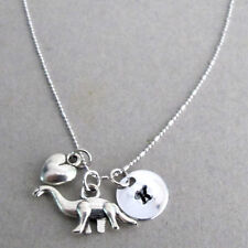 Dinosaur lover Personalized Necklace Hand stamped Name Teen Girl Gift Necklace