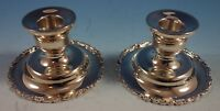 """Luella Mexican Mexico Sterling Silver Candlestick Pair 2 1/8"""" x 4"""" (#2120)"""