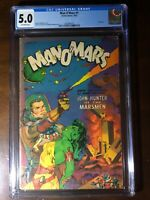 Man O'Mars #1 (1953) - Classic Golden Age Sci-Fi Cover!!! Whitman! - CGC 5.0!!