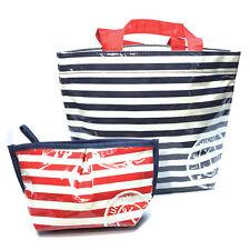 Sasa Small Handbag Tote Captains Stripes Navy & Red NEW