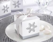 24 Winter Dreams Laser-Cut Snowflake Wedding Favor Boxes Q11823