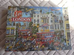 GIBSONS JIGSAW PUZZLE - 1000 PIECES - BRAND NEW - I LOVE LONDON - BY MIKE JUPP