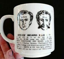 Vintage Mustache Mug Shaving Cup Japan Dykes' Beard Elixer