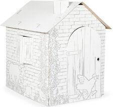 Spielhaus aus Bastelkarton ca. 87 x 71 x 88 cm Papphaus zum Basteln