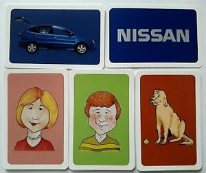 VINTAGE PLAYING CARDS GAME NISSAN TINO CAR BASED COLLECT 5 OR SNAP 30 CARD 1998
