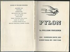 Pylon by william faulkner 1st print february 1935 stated hardcover harrison &son