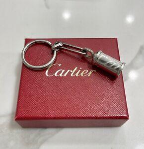 Cartier Key Ring Platinum Finish Key Chain/Pill Case Secret Message Missing Part