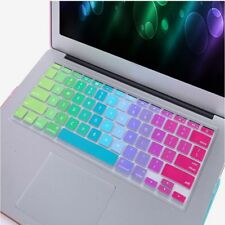 Sticker 13''15''17'' Colorful Rainbow Silicone Cover For Macbook Air Keyboard