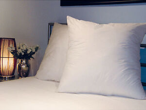 "Continental Euro Square Pillows Pair 65cm x 65cm 26"" x 26"" Luxury Hotel Quality"