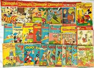 25 Vintage Walt Disney Magazines - Donald Duck Mickey Mouse Goofy + More