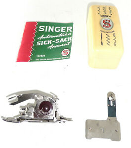 Vintage Singer 160991 160990 zig-zag sewing machine attachment swiss antique