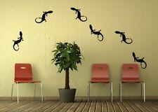 6x Gecko Lizard Design Vinyl Stickers Wall Art Decal Home Decorating Wall Decor