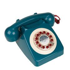 Wild & Wolf 746 Phone Petrol Blue Retro Vintage Style Corded Telephone Landline