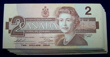 BANK OF CANADA 1986 $2 NOTES  BC-55b  **Nice AU to UNC**  5 PCS LOT
