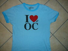 I LOVE THE O.C. TSHIRT Retro Ringer Girls Juniors Light Blue