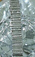 "STERLING SILVER NEW 2 CARAT DIAMOND TENNIS COCKTAIL PAVE BAR  BRACELET7.5"""
