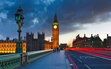 Poster London London UK United Kingdom Eye Big Ben Bridge Photo Wallpaper Picture 2